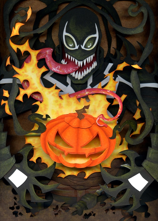Agent Venom light up shadowbox